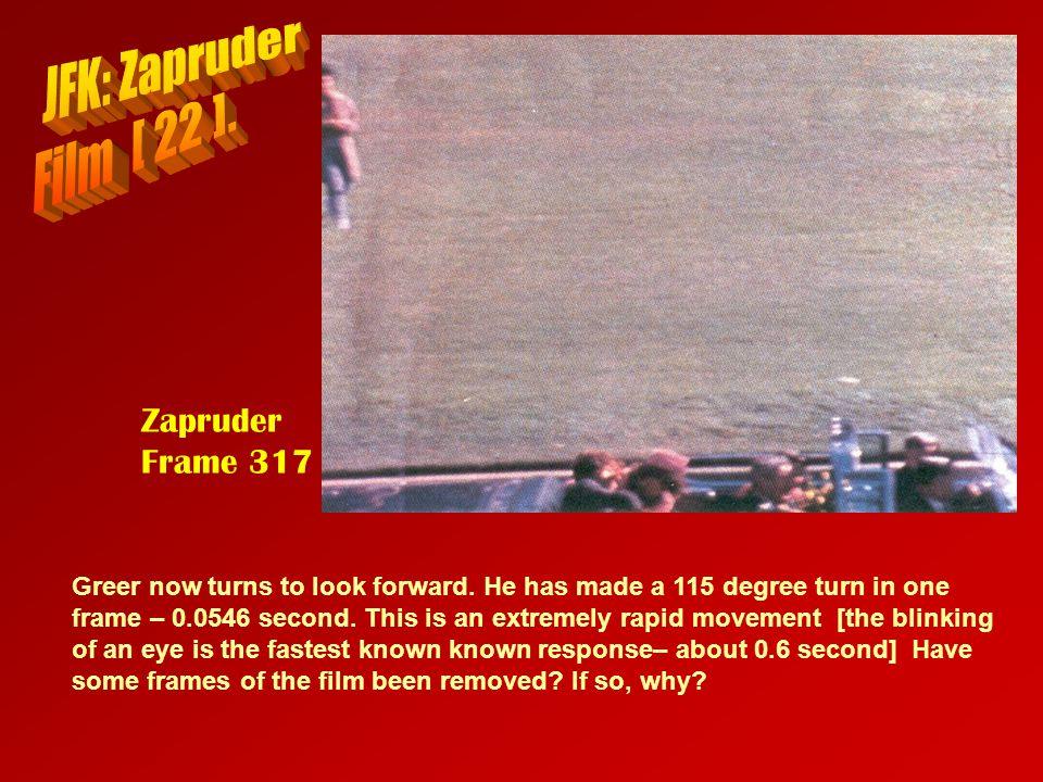 JFK: Zapruder Film [ 22 ]. Zapruder Frame 317